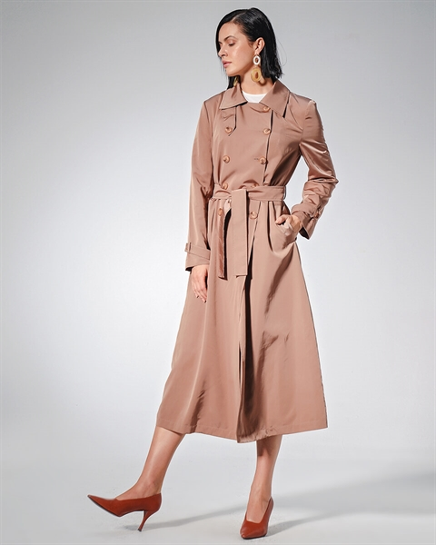 DÜĞMELİ TRANCH COAT CAMEL